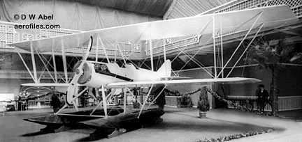 LWF fitted with Sturtevant engine, on floats at Grand Central Palace Aero Exposition, NYC 2/8/17