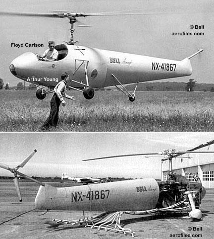 Bell 47 - O primeiro helicoptero operacional Bell-30mod1a