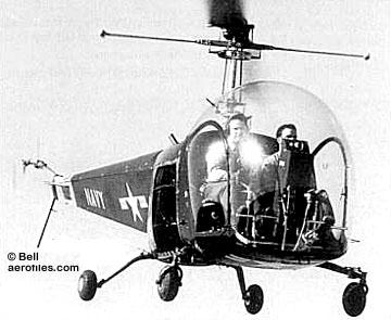 Bell 47 - O primeiro helicoptero operacional Bell-47a