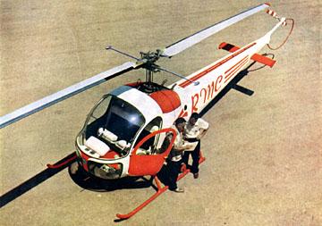 Bell 47 - O primeiro helicoptero operacional Bell-47h1